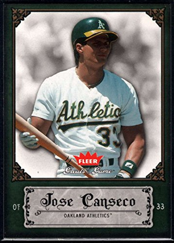 Baseball MLB 2006 Fleer Greats of the Game #55 Jose Canseco Athletics