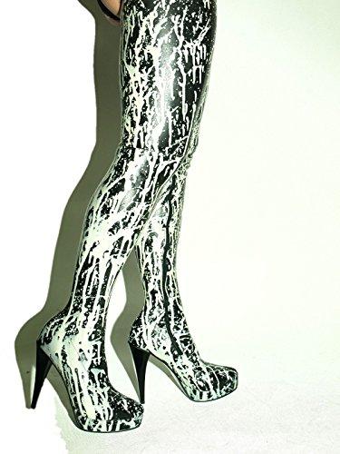 37 Rubber FS1213 Bolingier 13cm Stiefel Gummi Latex 47 Poland High Size Heel zwxZq