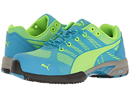 PUMA Safety Green/Blue Womens Meshelerity Knit Low AST ST Work Shoes 5