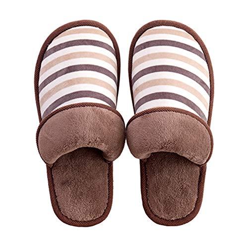 Paire Pantoufles Slippers Clair Automne Coton Brown Chaussures Divers Size Unisexes Accueil Confortables Doux Chaussons 40 et Doitsa 1 Hiver 41 Marron Épais Antidérapant Peluche Fond Tailles FUwC5v