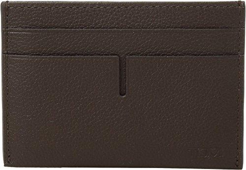 Tumi Men's Nassau Money Clip Card Case Dark Brown Textured One Size -