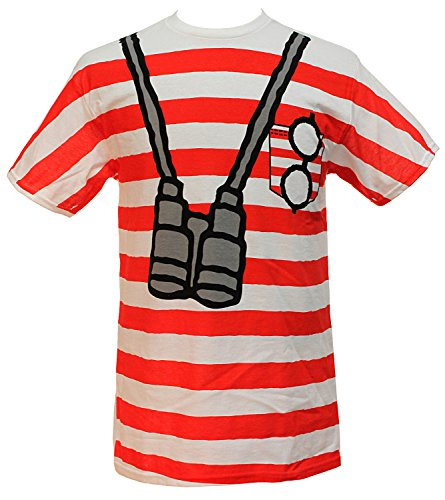 Where's Waldo Men's Costume I am Waldo Sublimation Print T-Shirt (Large) -