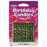 Toys : Camo Print Birthday Cake Candles - 12 ct