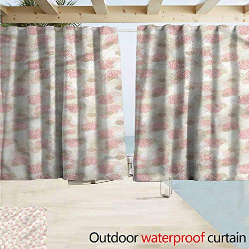 MaryMunger Custom Curtain Contemporary Dots Circular Patterns Draft Blocking Draperies W72x72L Inches