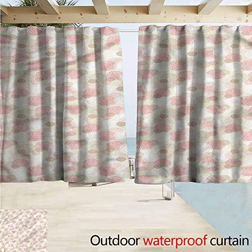 MaryMunger Custom Curtain Contemporary Dots Circular Patterns Draft Blocking Draperies W72x72L Inches