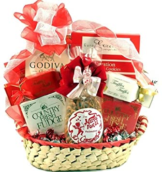 Amazon Com For My Valentine Gift Basket For Valentines Day