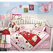 SOHO Butterflies Red Meadows Nursery Bedding Complete 14 piece Set