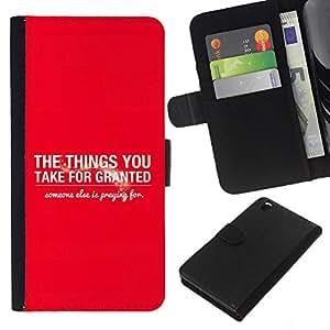 EJOY---La carpeta del tirón la caja de cuero de alta calidad de la PU Caso protector / HTC DESIRE 816 / --BIBLIA Las cosas que damos por sentado