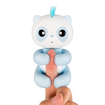 Blanketswarm Creativo Encantador Dedo Panda Interactivo Juguete Toque Sensor Colgando Mascota (Azul)