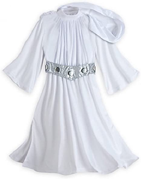 Disney Store Star Wars disfraz de princesa Leia blanco Moño peluca ...