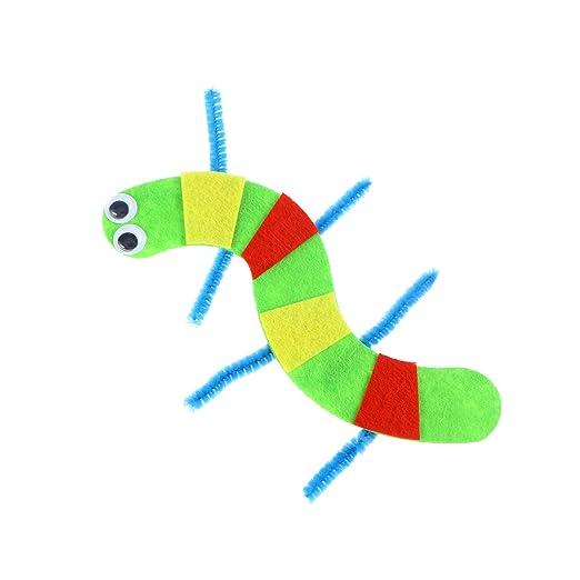 Bestoyard 10 Stücke Diy Handwerk Für Kinder Hundertfüßer Spielzeug