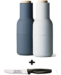 Conjunto de regalo para comedor Menu de pimentero y salero en forma de botella + 1