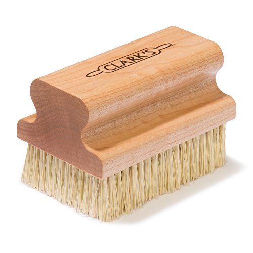 CLARK'S Large Cutting Board Scrub Brush | Maple Construction | Scrubber Brush for Cutting Boards, Butcher Blocks, Countertops and wood surfaces | Proudly made in the USA