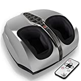 Serene Life SereneLife SLFTMSG35 Shiatsu Foot Massager, Shiatsu Therapy For Heels, Toes And Ankles, For Pain Relief And Comfort |Heat Function And Different Intensity Levels, With Remote Control, Silver