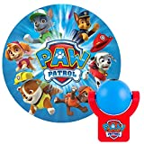 Electronics : Projectables, 1 PAW Patrol LED Night Light, Plug-in, Dusk to Dawn Sensor, Nickelodeon, UL-Listed, Image on Ceiling, Wall, or Floor, Ideal for Bedroom, Nursery, Bathroom, 30604