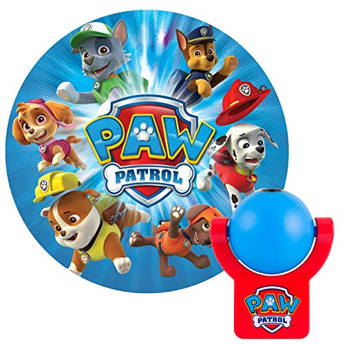 Projectables, 1 PAW Patrol LED Night Light, Plug-in, Dusk to Dawn Sensor, Nickelodeon, UL-Listed, Image on Ceiling, Wall, or Floor, Ideal for Bedroom, Nursery, Bathroom, 30604