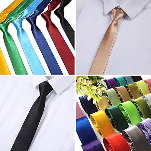 Chen Rui (TM) Boda del Padrino de Boda del Negocio de Pure Color Tie Hombre ucagiO