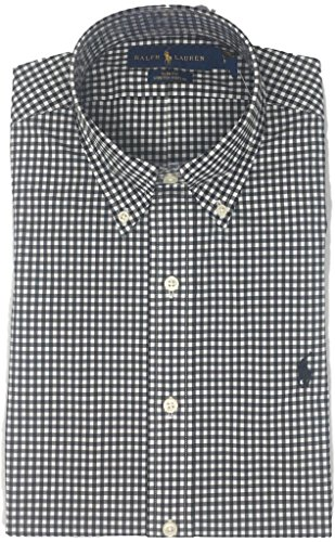 Polo Ralph Lauren Mens Slim Fit Long Sleeve PoPlin Buttondown Shirt (M, - Discount Ralph Lauren