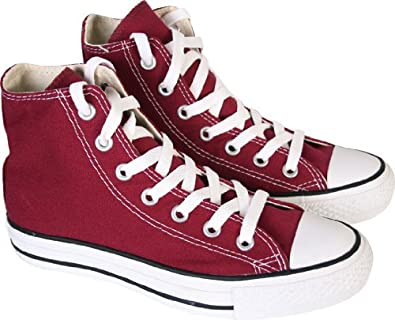9dc0a0cb40aa Converse Maroon Chuck Taylor All Star High Top Womens Canvas Trainers (UK 6)