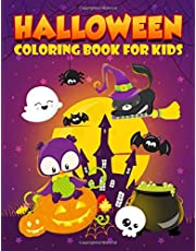 Halloween Coloring Book for Kids: 35 Cute Illustrations for Children Ages 3-10