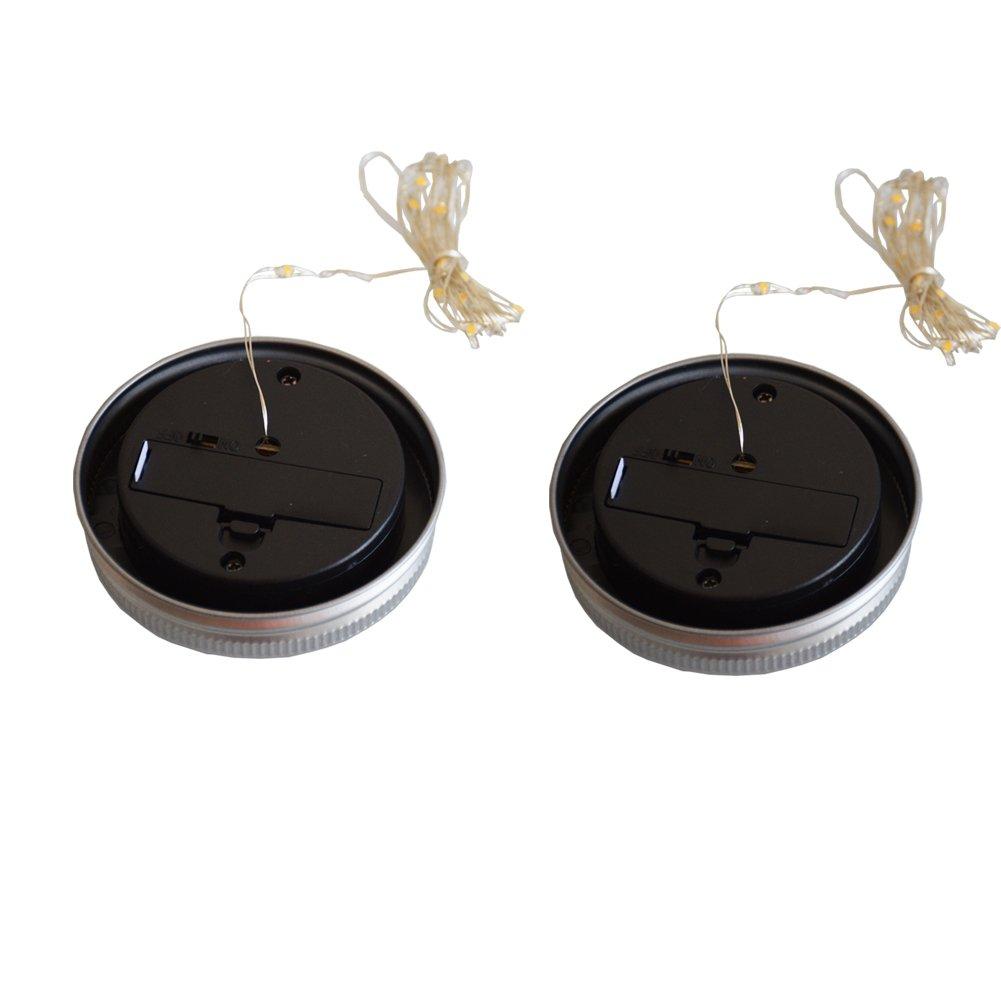 Solar Powered Mason Jar Hanging Lights 2-Pack 20 LED Solar / Hanging Lantern Decor Table Light, Patio Path Light, Warm White Lamp for Garden Patio Outdoor Solar Lanterns( Mason Jar & Hanger Included … by Tellunow (Image #6)