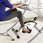 DeskCycle-premio-di-qualita-praticamente-in-silenzio-magnetico-sotto-la-scrivania-cyclette-per-casa-o-ufficio-di-fitness-in-argento-e-bianco