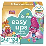 Pampers Easy Ups Training Pants Girls and Boys, Size 5 (3T-4T), 124 Count