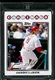 Jason LaRue - St. Louis Cardinals - 2008 Topps Updates & Highlights Baseball Card in Protective Screwdown Display Case!