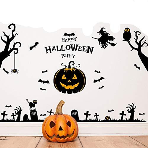 Dragon Honor Wall Sticker Happy Halloween Pumpkins Spooky Cemetery Wall Decals Halloween Decorations