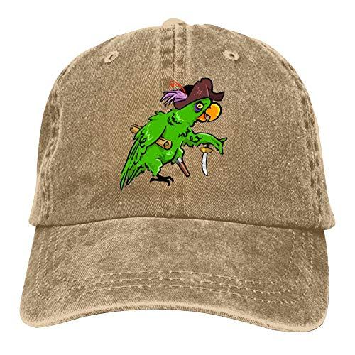 ENGPin Men Women Hat Green Parrot Baseball Cap Adult Hip Hop Adjustable Size Natural ()