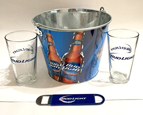 Bud Light Ice Bucket and Pint Glass Set