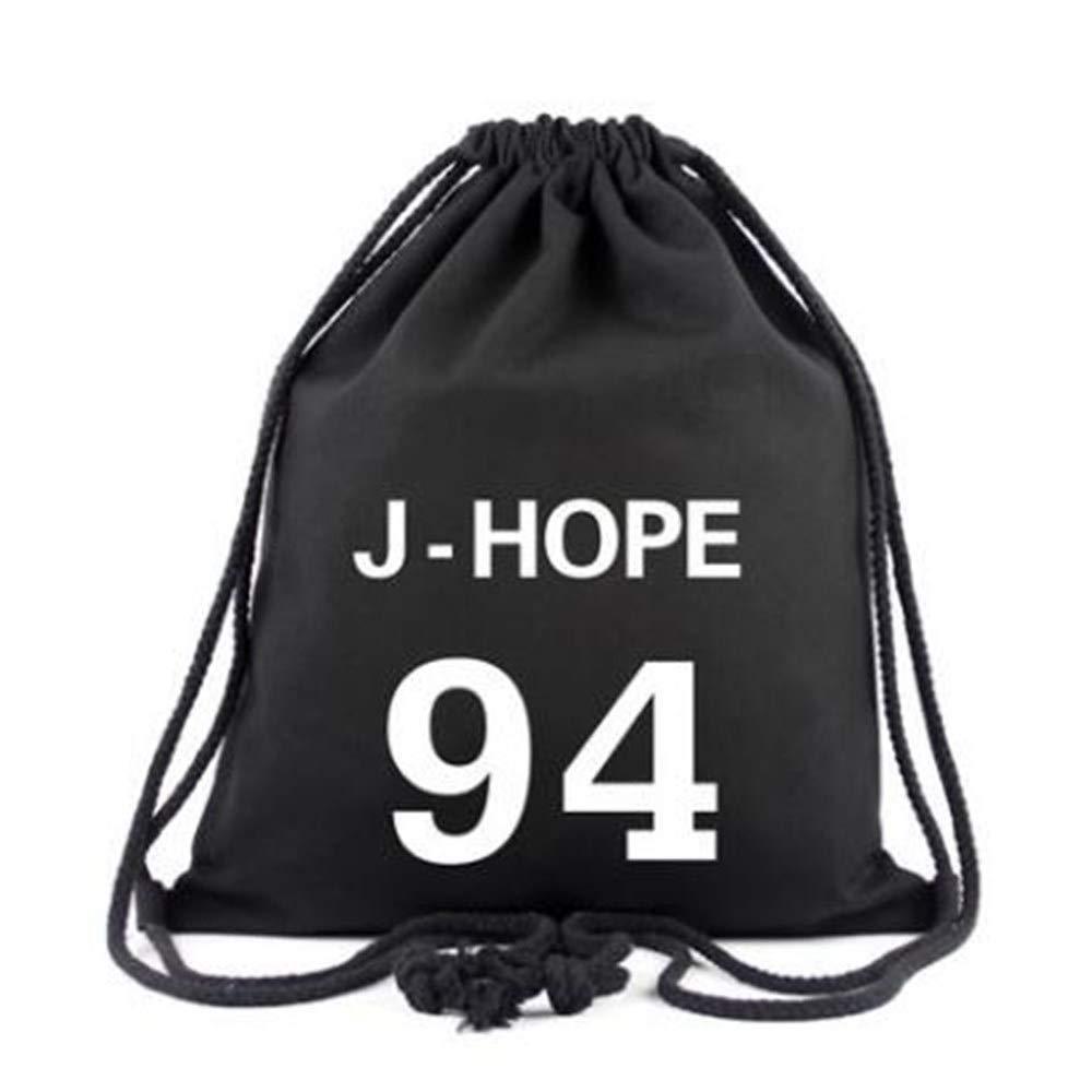 """U-K-NOW BTS Kpop Mochila de lona luminosa con cordón ajustable, para niños, casual, bolsa de equipamiento, bolsa de malla para natación y gimnasio, mochilas de viaje para la escuela, color BTS, tamaño 45cm*35cm/17.7*13.8"""""""