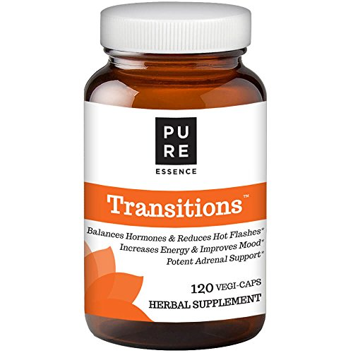 Transitions by Pure Essence Labs - Natural Menopause Relief Supplement - Promotes Hormone Balance, Reduces Hot Flashes, Mood Swings, Night Sweats - 120 - Menopause And Hormones