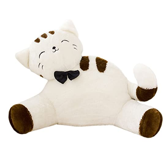 firstsight novelty cat kids bedrest pillow plush cute bed rest pillows with arms for reading in