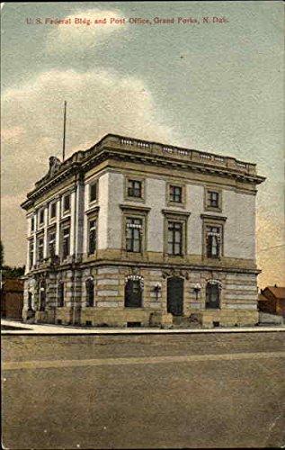 U. S. Federal Bldg. And Post Office Grand Forks, North Dakota Original Vintage Postcard