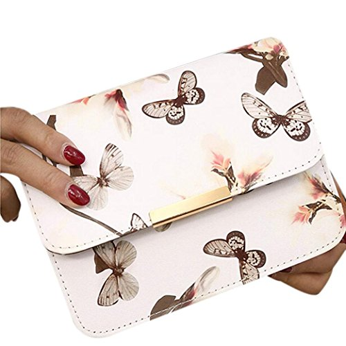 Women Shoulder Bags,Floral leather Satchel Handbag Retro Messenger Bag by-NEWONESUN