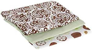 Summer Infant Organic Receiving Blankets, 3 Pack, Moss (Discontinued by Manufacturer)