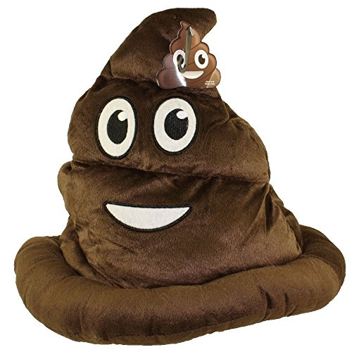 Funny Emoji Poop Hat - Soft Plush