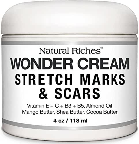 Stretch Marks & Scar Removal Cream from Natural Riches - 4 oz - 100% Natural, Reduces the Appearances of Keloids, Pregnancy Stretch Marks and scars, helps in Firming & Tightening Skin