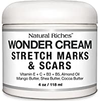 Stretch Marks & Scar Removal Cream from Natural Riches - 4 oz - 100% Natural,...