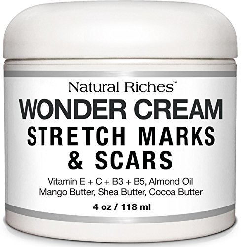 Stretch Marks & Scar Removal Cream, from Natural Riches - 4 oz - 100% Natural, Reduces the Appearances of Keloids, Pregnancy Stretch Marks and scars, helps in Firming & Tightening (Maternity Skin Care Solutions)