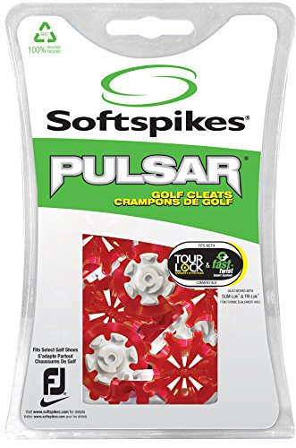 Fast Lock (Softspikes Pulsar Tour Lock Cleat - One Replacement Set - Red)