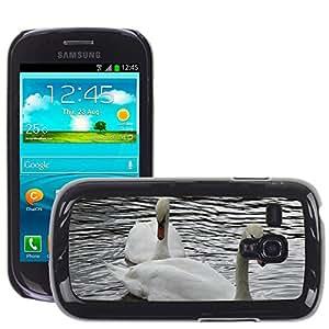 Super Stella Slim PC Hard Case Cover Skin Armor Shell Protection // M00107645 Swan Love Bird Swans Afloat // Samsung Galaxy S3 MINI i8190