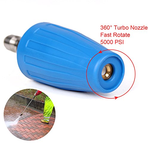 PENSON & CO. 3.0 GPM Turbo Rotary Rotating Nozzle for Pressure Washer 1/4 Quick Connect 5000PSI