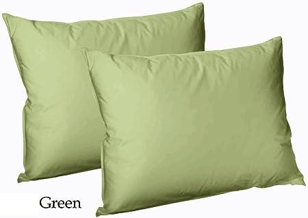 Ar Plain Dyed – Pack de 2 Fundas de Almohadas (Polialgodón), Color Verde: Amazon.es: Hogar