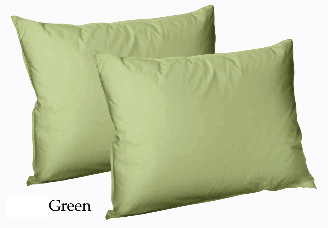 Luxury Plain Dyed PolyCotton Housewife Pillow Case Cover Cases Pair New