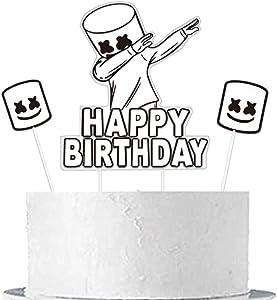 DJ Mask Birthday Cake Topper for Marshmallow