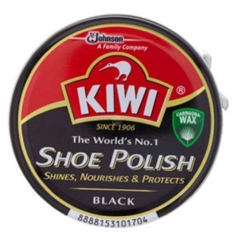 Kiwi Shoe Boot Polish Wax Glossy Shine Black Leather Free Shipping Made From Thailand