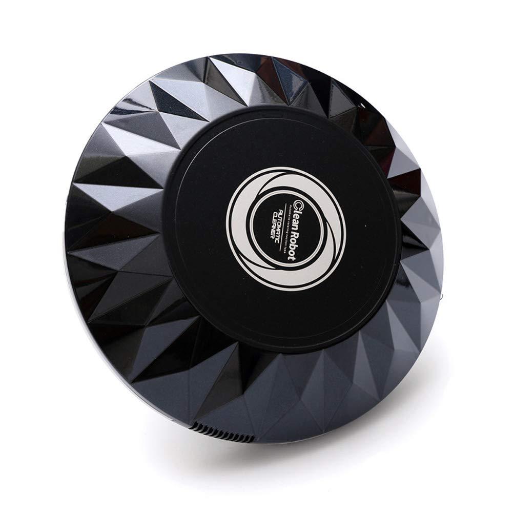 Onner Robot Vacuum Cleaner, Household Intelligent Automatic Cleaning Robot Super Silence Anti-Collision Sensor USB Robotic Vacuum(Black)