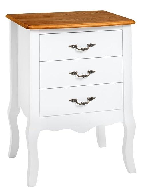 JYSK cómoda de 3 cajones stenlille Blanco/Ceniza: Amazon.es: Hogar